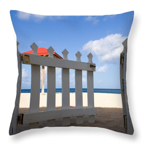 Antigua And Barbuda Throw Pillow featuring the photograph This Way Please by Ferry Zievinger