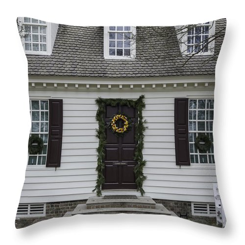 2013 Throw Pillow featuring the photograph Thomas Everard House Williamsburg by Teresa Mucha