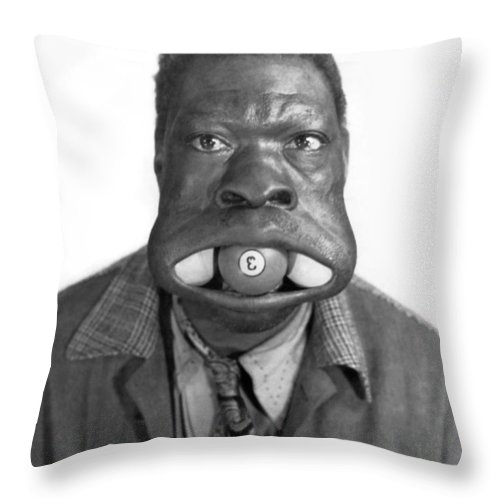 1945 Throw Pillow featuring the photograph Three Ball Charlie by Underwood Archives