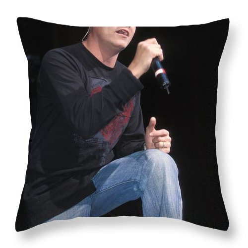 Performance Throw Pillow featuring the photograph Three Doors Down - Brad Arnold by Concert Photos