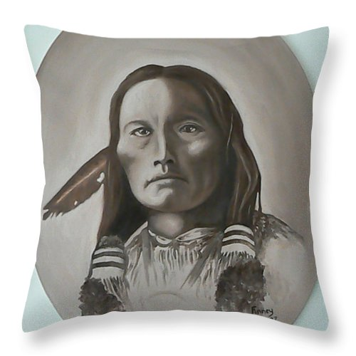 Michael Throw Pillow featuring the painting Three Fingers by Michael TMAD Finney