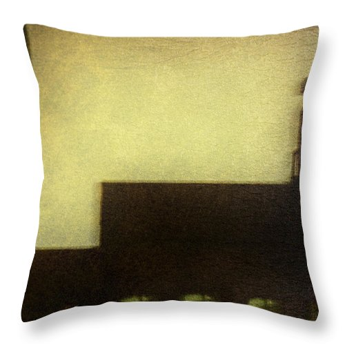 Night Throw Pillow featuring the photograph Three Windows by Margie Hurwich
