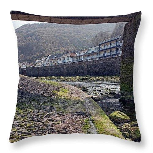 Bridge Throw Pillow featuring the photograph Through The Bridge by Stephen Barrie