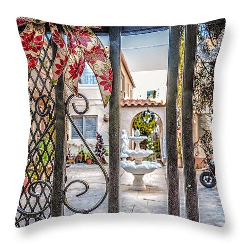 Usa Throw Pillow featuring the photograph Through The Gate by Oleg Koryagin