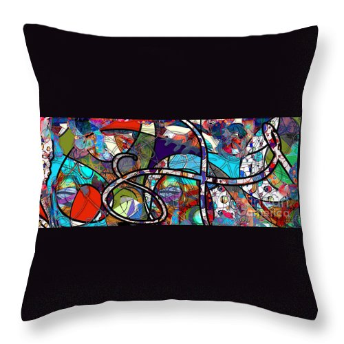 Abstract Throw Pillow featuring the digital art Through The Wormhole by Gabrielle Schertz