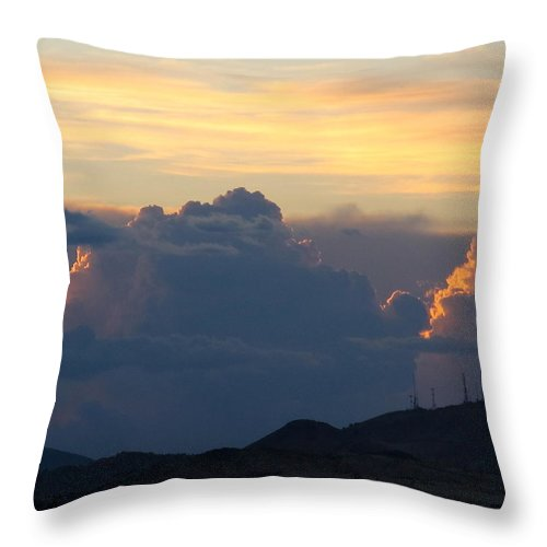 Clouds Throw Pillow featuring the photograph Thunder Bumpers by Phyllis Kaltenbach