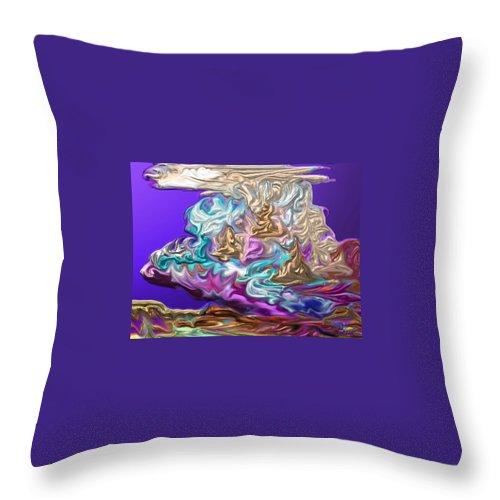 Thunderhead Throw Pillow featuring the painting Thunderhead 3 by Marie Clark