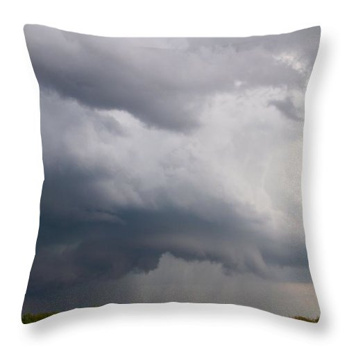 Thunderstorm Squall Throw Pillow featuring the photograph Thunderstorm Squall by Dan Sproul