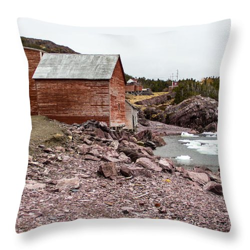 Tickle Cove Throw Pillow featuring the photograph Tickle Cove Beach by Crystal Fudge