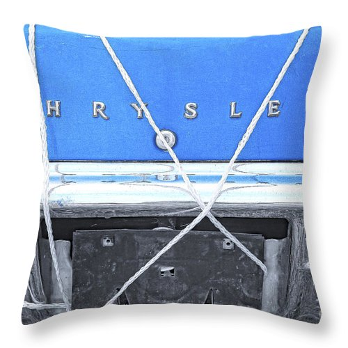 Chrysler Throw Pillow featuring the digital art Tied Down Trunk by Lori Frostad