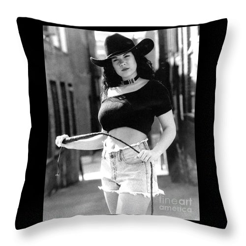 Model Throw Pillow featuring the photograph Tiffany Whip by Gary Gingrich Galleries
