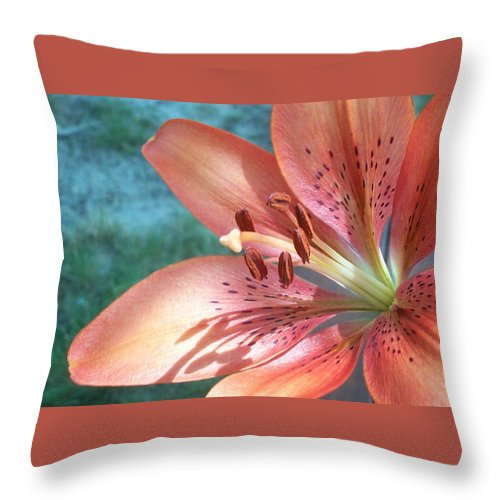 Tiger Lily Throw Pillow featuring the photograph Tiger Lily by Maria Manna