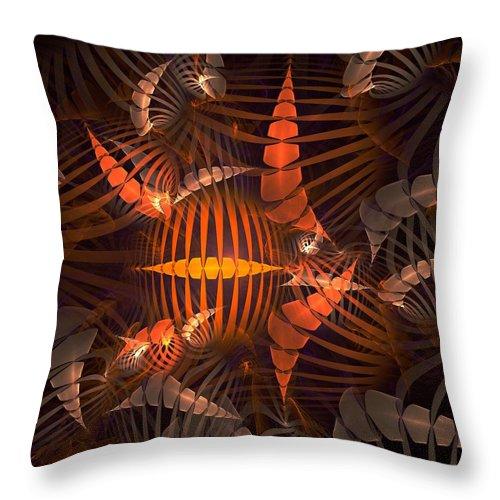Tiger Throw Pillow featuring the digital art Tiger Shrimp by Anastasiya Malakhova