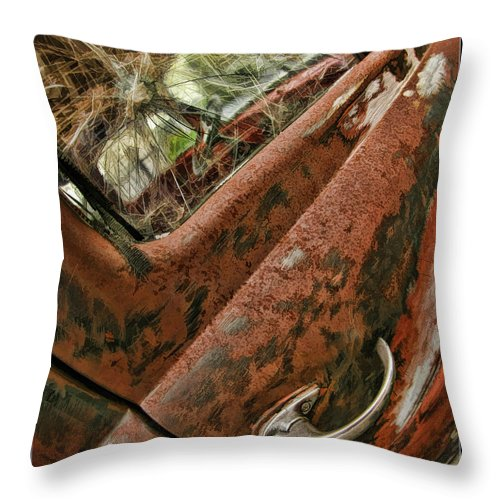 Old Trucks Throw Pillow featuring the photograph Time Has Past by Blake Richards