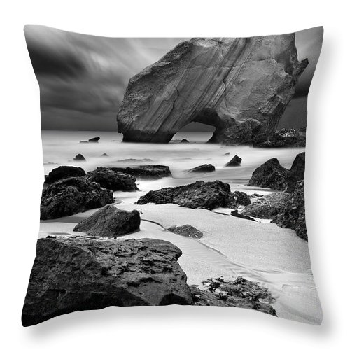 Bw Throw Pillow featuring the photograph Time Lapse by Jorge Maia