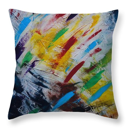 Abstract Throw Pillow featuring the painting Time stands still by Sergey Bezhinets