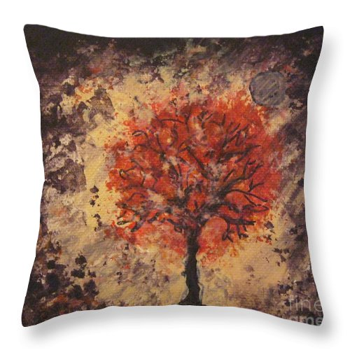 Throw Pillow featuring the painting Time To Reflect by Jacqui Hawk