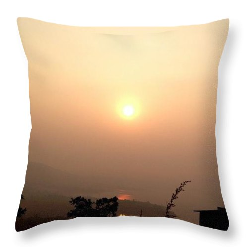 Reflect Throw Pillow featuring the photograph Time To Reflect by Sayali Mahajan