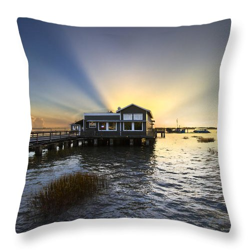 Clouds Throw Pillow featuring the photograph Time To Relax by Debra and Dave Vanderlaan