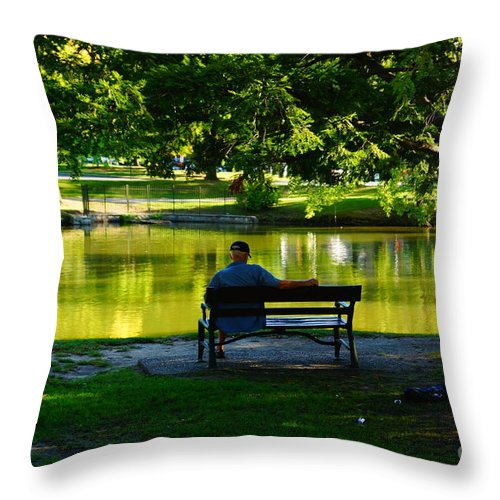 People Throw Pillow featuring the photograph Time To Relax by Jeffery L Bowers