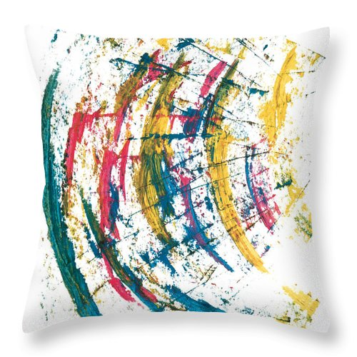 Contemporary Throw Pillow featuring the painting Time Travel by Bjorn Sjogren