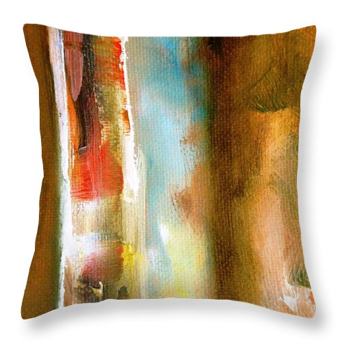 Paintings By Lyle Throw Pillow featuring the painting Time Travel by Lord Frederick Lyle Morris - Disabled Veteran
