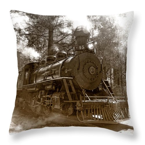 Locomotive Throw Pillow featuring the photograph Time Traveler by Donna Blackhall