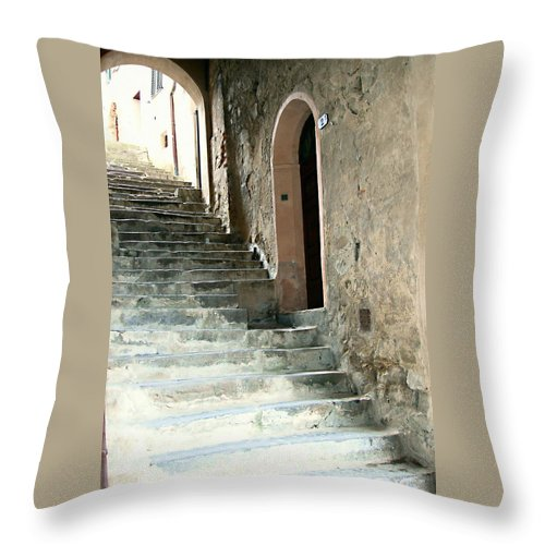 Time-worn Passage Throw Pillow featuring the photograph Time-worn Passage by Ellen Henneke