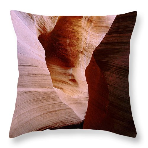 Antelope Canyon Throw Pillow featuring the photograph Timeless by Kathy McClure
