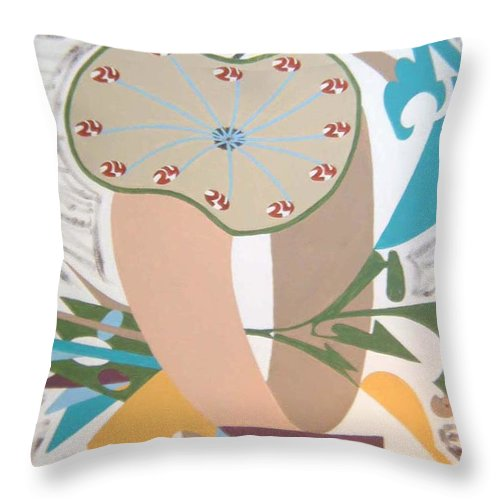 Abstract Throw Pillow featuring the painting Times up by Dean Stephens