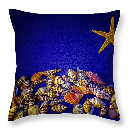 Sea Shells Throw Pillow featuring the photograph Tiny Sea Shells by Robert Storost