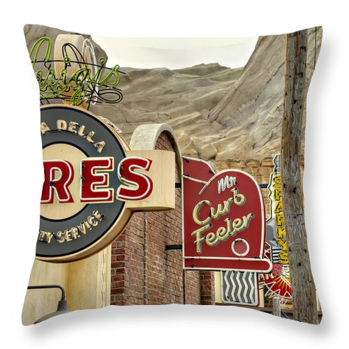 Cars Throw Pillow featuring the photograph Tires by Ricky Barnard