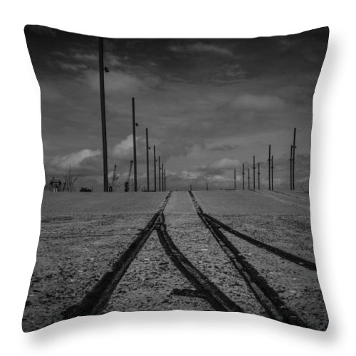 Titanic Throw Pillow featuring the photograph Titanic Slipway In Belfast by Gareth Burge Photography