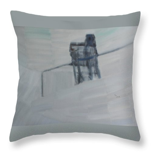 People Throw Pillow featuring the painting To Feel The World By Heart by Min Zou