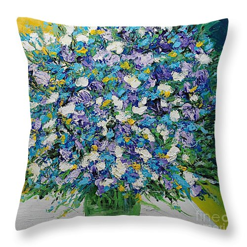 Landscape Throw Pillow featuring the painting To Have And Delight by Allan P Friedlander