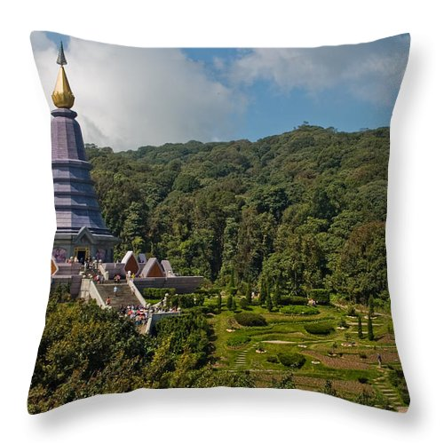 3scape Throw Pillow featuring the photograph To The King And Queen by Adam Romanowicz