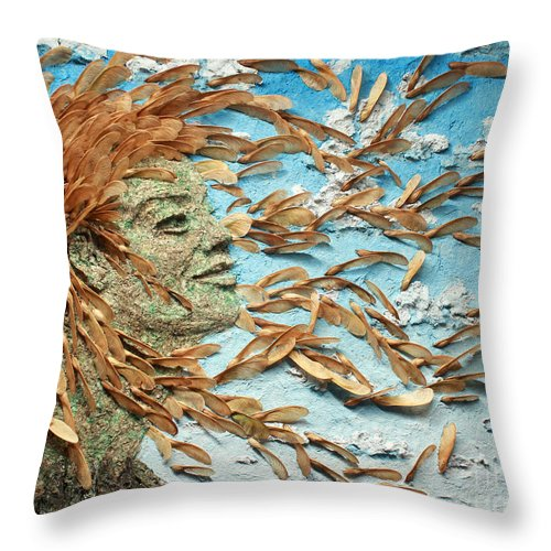 Art Throw Pillow featuring the mixed media To The Wind by Adam Long