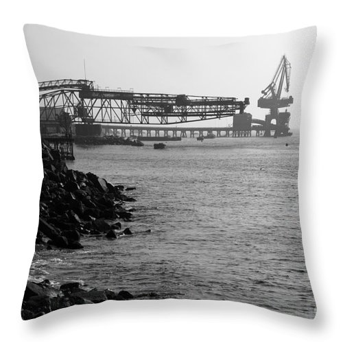 Industry Throw Pillow featuring the photograph Port Of Tocopilla Chile by James Brunker