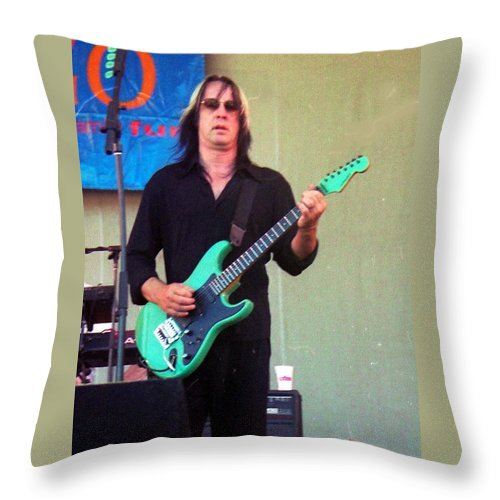 Music Throw Pillow featuring the photograph Todd Rundgren by Sheryl Chapman Photography