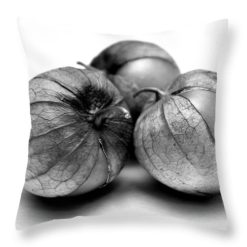 Fruit Throw Pillow featuring the photograph Tomatillos by Nathan Abbott
