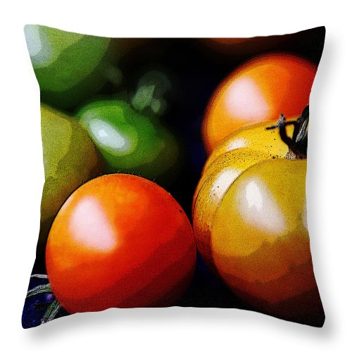 Tomatoes Throw Pillow featuring the photograph 10044 Tomatoes by Colin Hunt