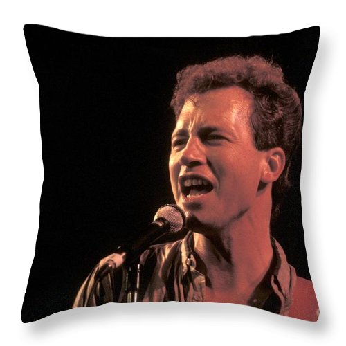 Concert Throw Pillow featuring the photograph Musician Tommy Tutone by Concert Photos