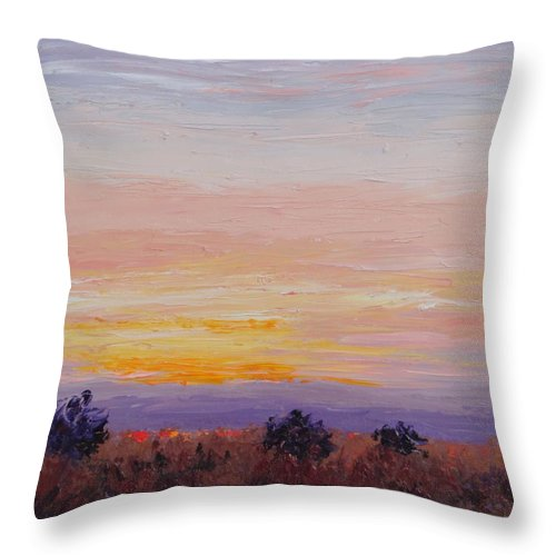 Abstract Throw Pillow featuring the painting Tomorrow's Another Day by Shannon Grissom