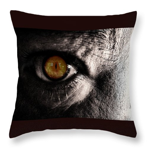 Zombie Throw Pillow featuring the photograph Too Late by Mick Logan