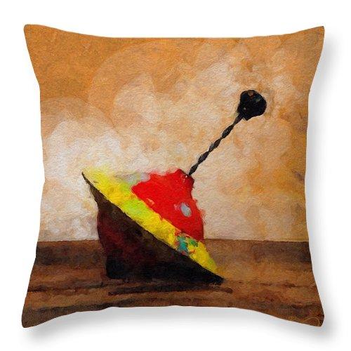 Top Throw Pillow featuring the digital art Top by David Derr