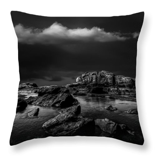 Landscape Throw Pillow featuring the photograph Top Of The Falls by Bob Orsillo