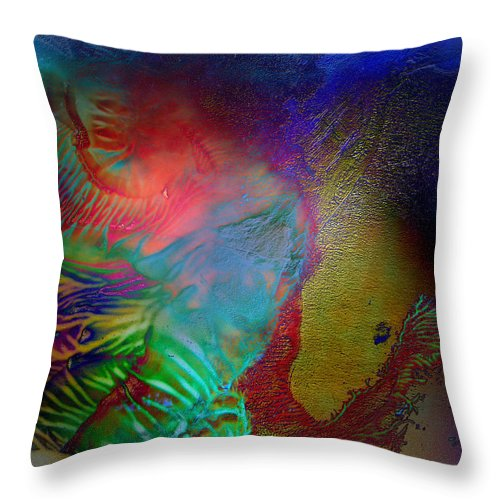 Surrealism Throw Pillow featuring the digital art Topology Of Decalcomania by Otto Rapp