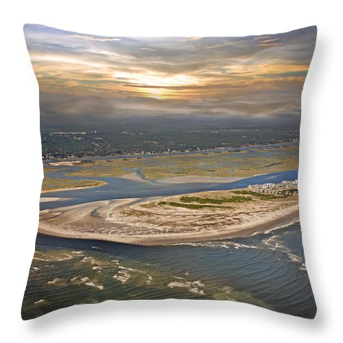 Outer Throw Pillow featuring the photograph Topsail Island Paradise by Betsy Knapp