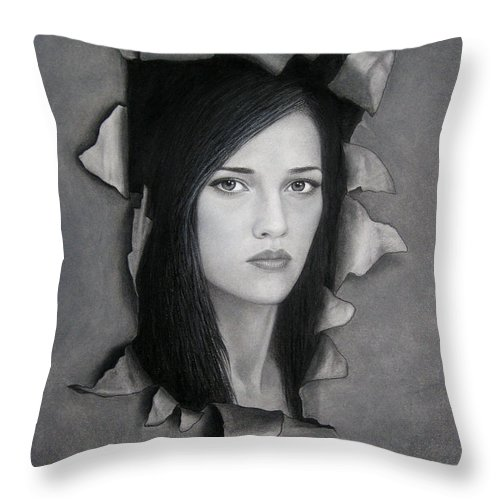 Torn Throw Pillow featuring the painting Torn by Lynet McDonald