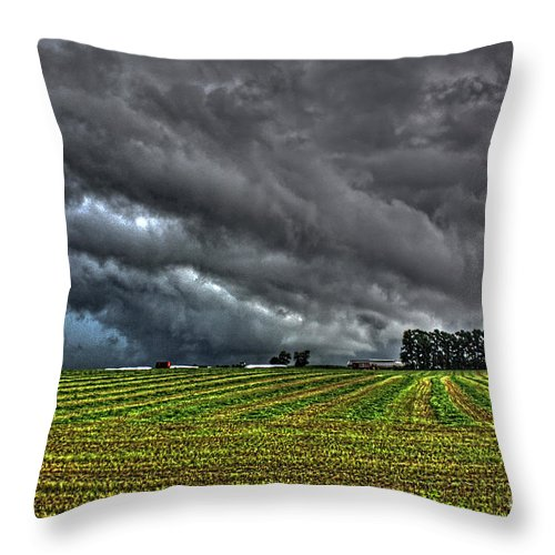 Tornado Throw Pillow featuring the photograph Tornado Over Madison 5 by Tommy Anderson